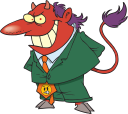 Royalty Free Clipart Image of the Devil in a Suit