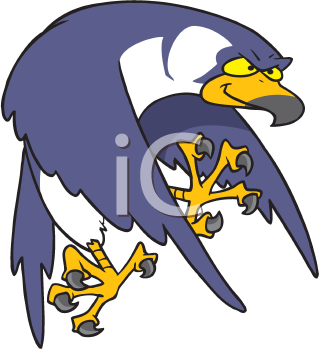 Royalty Free Clipart Image of a Falcon