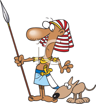 Royalty Free Clipart Image of a Guard With a Dog