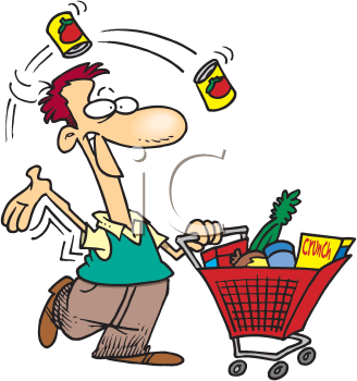 Royalty Free Clipart Image of a Shopper
