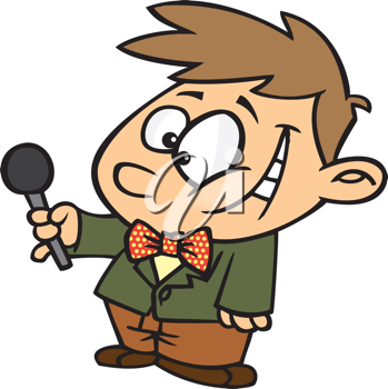 Royalty Free Clipart Image of an Interviewer