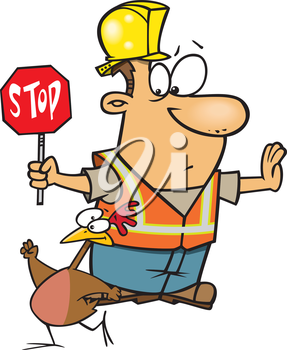 Royalty Free Clipart Image of a Road Crossing