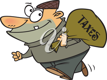 Royalty Free Clipart Image of a Tax Thief