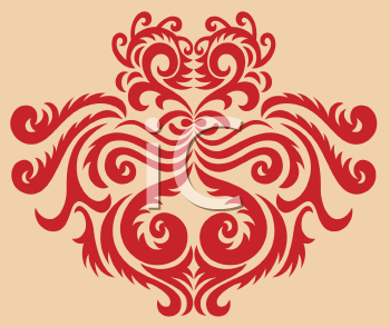 Royalty Free Clipart Image of a Deco Pattern