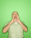 Royalty Free Photo of an Older Man Yelling