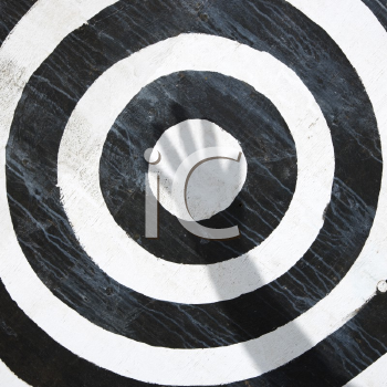Royalty Free Photo of a Black and White Bullseye Target