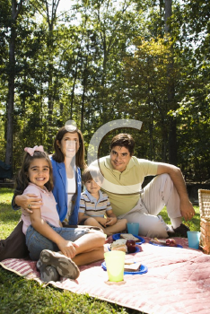 Royalty Free Photo of a Family Picnic in the Park