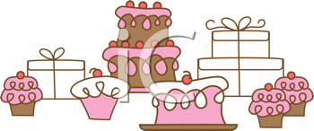 Royalty Free Clipart Image of a Baked Goods