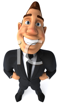 Royalty Free Clipart Image of a Businessperson