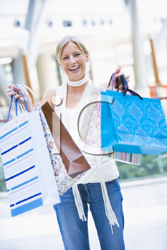 Royalty Free Photo of a Woman With Shopping Bags