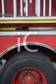 Royalty Free Photo of the Side of a Firetruck