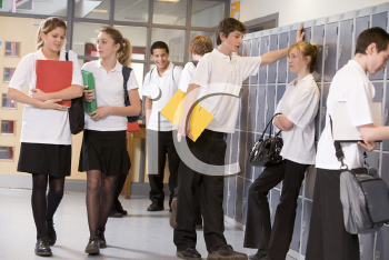 Royalty Free Photo of Students in a Hall
