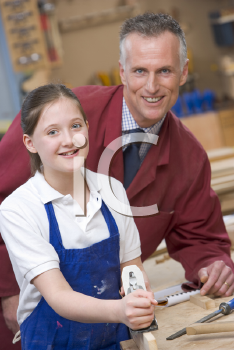 Royalty Free Photo of a Student and Teacher