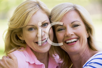 Royalty Free Photo of Two Women Hugging