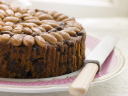Royalty Free Photo of Dundee Cake on a Plate
