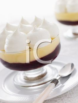 Royalty Free Photo of an Individual Glass of Sherry Trifle