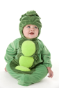 Royalty Free Photo of a Baby in a Peas in a Pod Costume