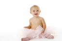 Royalty Free Photo of a Baby in a Tutu