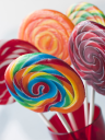 Royalty Free Photo of Spiral Fruit Lollipops