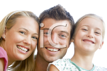 Royalty Free Photo of Parents and a Girl