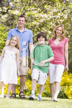 Royalty Free Photo of a Family Outside