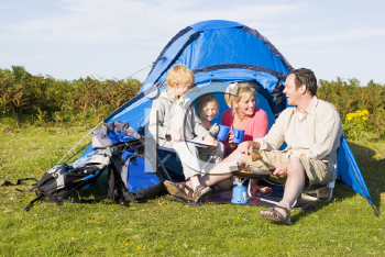 Royalty Free Photo of a Family Camping