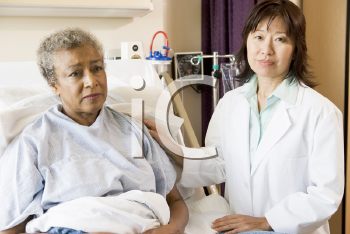 Royalty Free Photo of a Doctor With a Patient