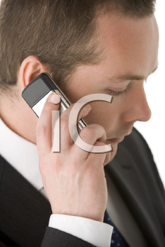 Royalty Free Photo of a Person Talking on a Cellphone