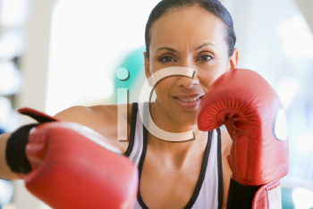 Royalty Free Photo of a Woman Boxing