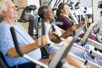 Royalty Free Photo of People Working Out