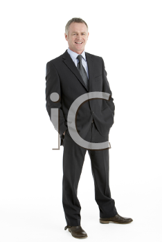 Royalty Free Photo of a Man in a Business Suit