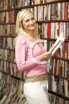 Royalty Free Photo of a Female in a Bookshop