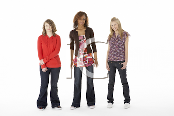 Royalty Free Photo of a Group of Girls