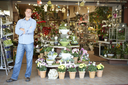 Man working in florist