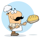 Royalty Free Clipart Image of B is for Baker