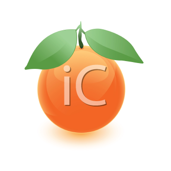 Royalty Free Clipart Image of an Orange