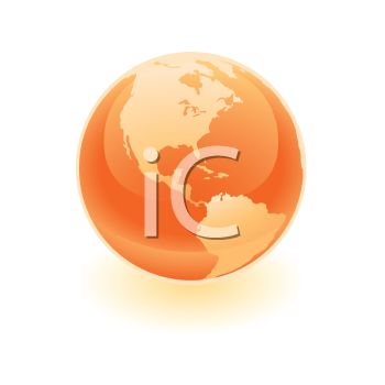 Royalty Free Clipart Image of an Orange Earth