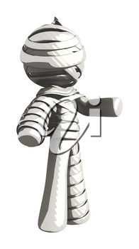Mummy or Personal Injury Concept Gesture Left