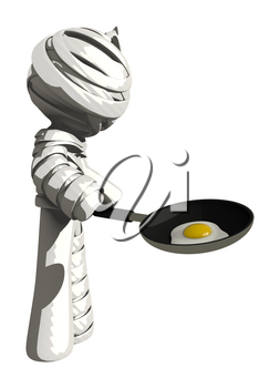 Mummy or Personal Injury Concept Making Breakfast