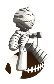 Mummy or Personal Injury Concept Sitting on Football