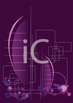 Royalty Free Clipart Image of a Purple Background