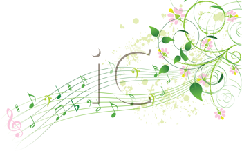 Royalty Free Clipart Image of an Abstract Spring Song Background