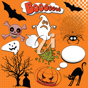 Royalty Free Clipart Image of a Halloween Background