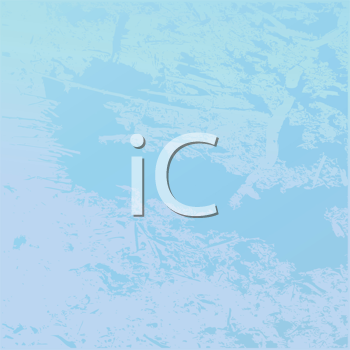 Royalty Free Clipart Image of an Icy Blue Frozen Texture