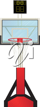 Basketball hoop, isolated object against white background