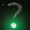 bubbling question mark, abstract vector art illustration; image contains transparency