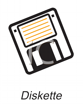 Royalty Free Clipart Image of a Diskette