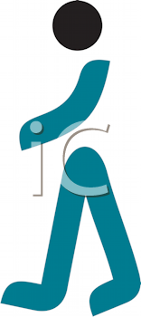 Royalty Free Clipart Image of a Person Walking