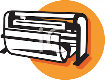Royalty Free Clipart Image of a Large Cutter