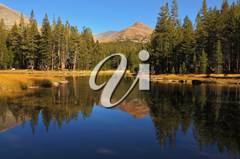 Royalty Free Photo of a Lake and Mountains